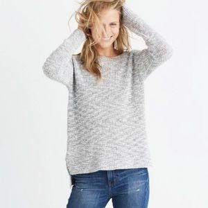 Madewell Eastbank Pullover Sweater Gray S